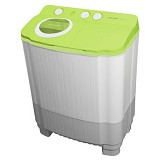 POLYTRON Mesin Cuci Twin Tub [PWM 7556GG] - Full Green - Mesin Cuci Twin Tub